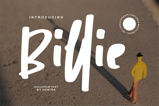 Billie | Handdraw Font