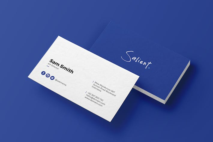 cover image for salient minimal business card - Minimal Business Card