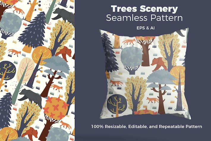 Thumbnail for Trees Scenery Pattern