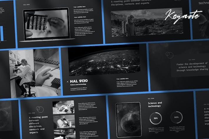 Thumbnail for Хэл - Tech & Science Keynote Шаблон