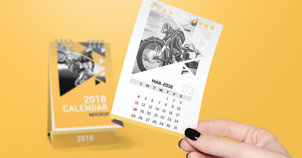 Download a6 Desk Calendar Mockups by StreetD