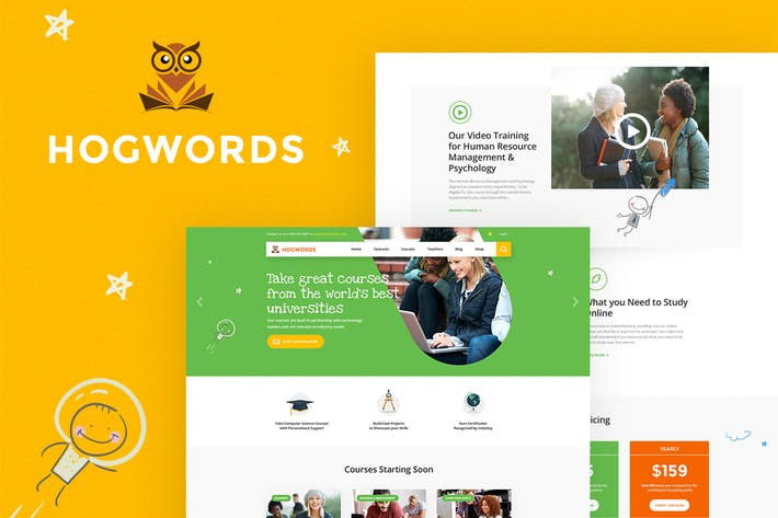 Thumbnail for Hogwords - Education Center WordPress Theme