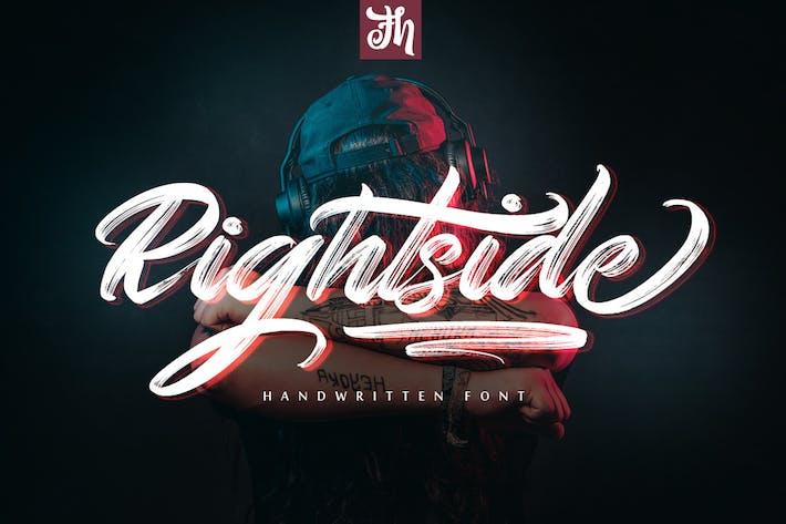 Thumbnail for Rightside - Handwritten Font