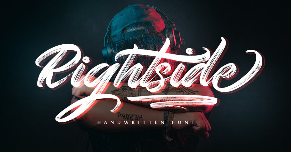 Download Rightside - Handwritten Font by Voltury