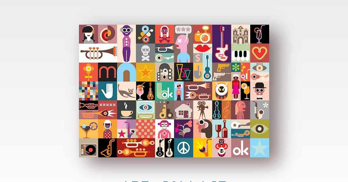 Download Art Collage vector illustration by Unknow