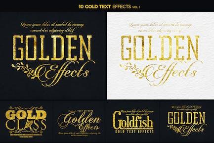 Золотые текстовые эффекты 1