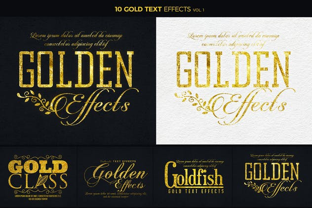 Gold Text Effects 1