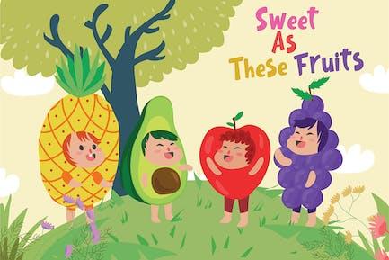 Früchte - Vektor illustration