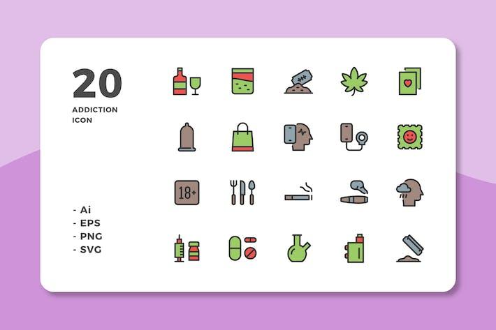 Thumbnail for 20 Иконки зависимости (линейный цвет)