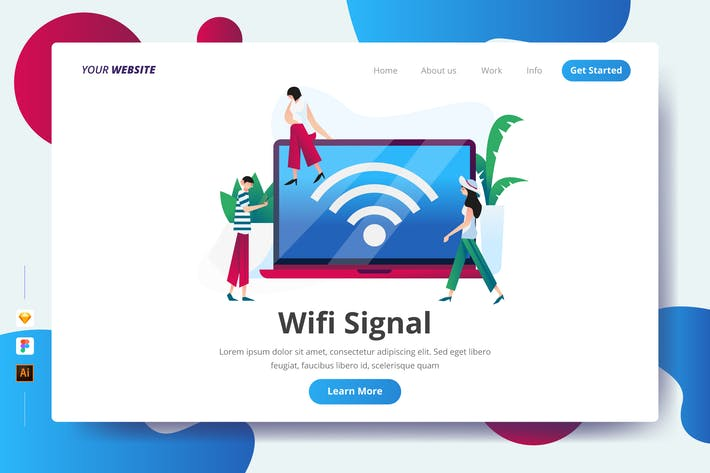 Thumbnail for Wifi Signal - Landing Page