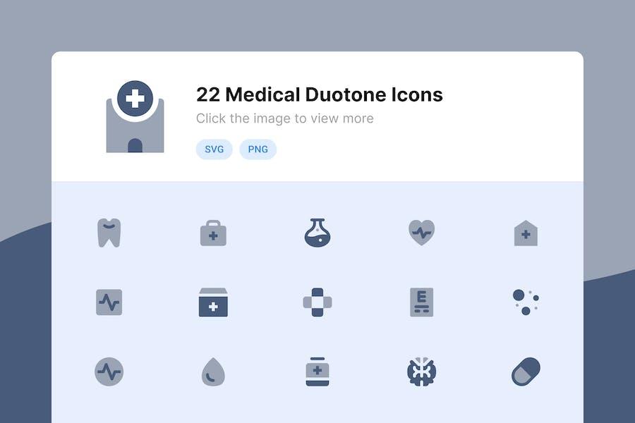 Medizinische Duotone Icons
