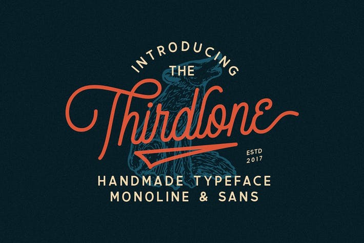 Thumbnail for Thirdlone Font Duo & Vector Pack