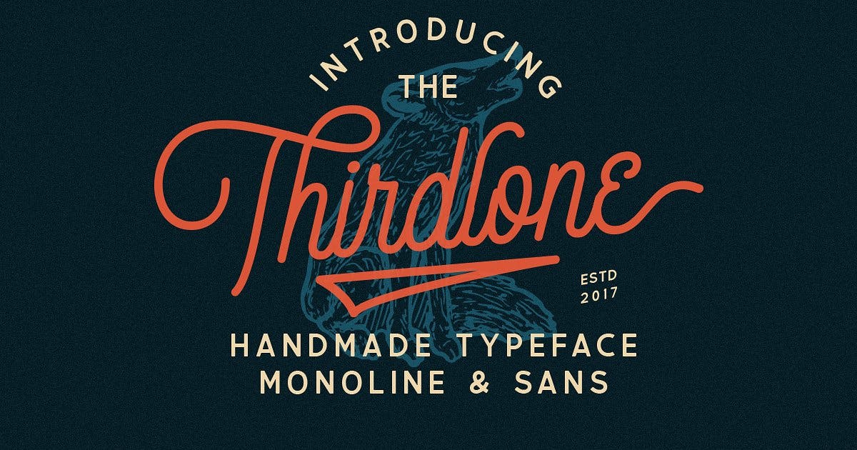 Download Thirdlone Font Duo & Vector Pack by letterhend