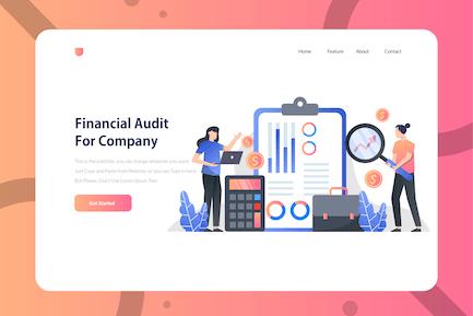 Financial Audit Company - Onboarding Illustration