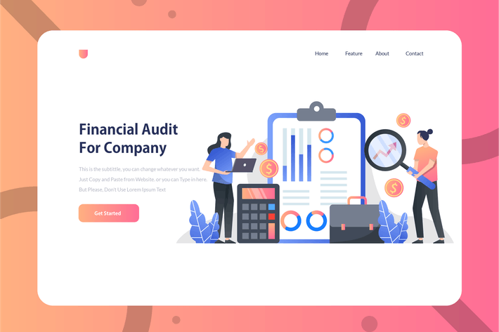 Thumbnail for Financial Audit Company - Onboarding Illustration