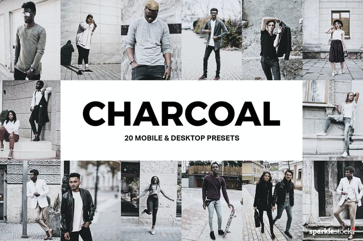 Thumbnail for 20 Charcoal Lightroom Presets & LUTs