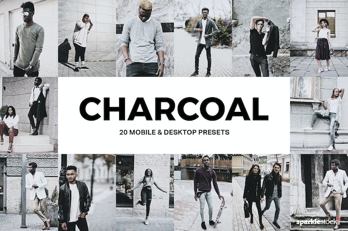 Cover Image For 20 Charcoal Lightroom Presets & LUTs