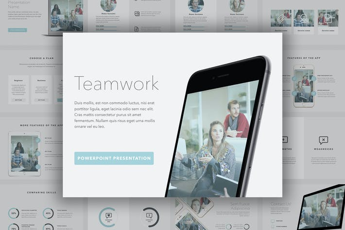 Thumbnail for Teamwork PowerPoint Template
