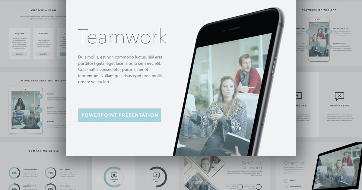 Download Teamwork PowerPoint Template by Unknow