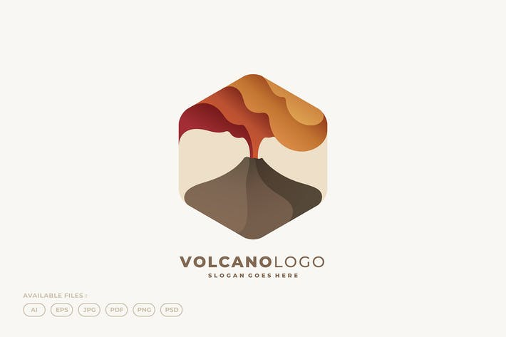 Mountain Volcano Logo
