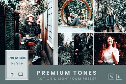 Premium Tones  Action & Lightroom Preset