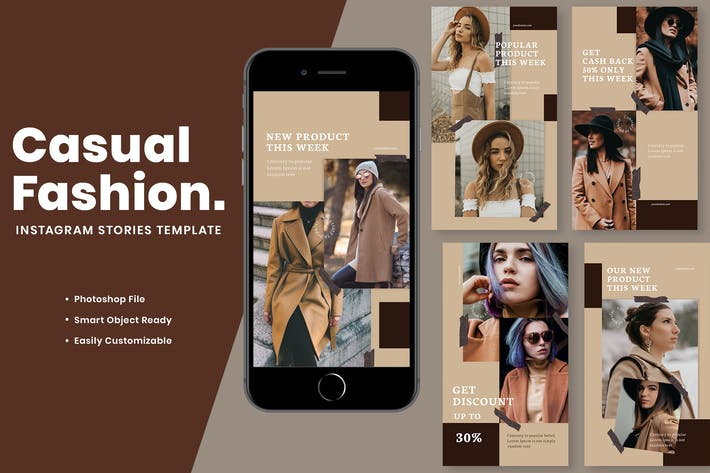 Thumbnail for Casual Fashion Instagram Stories Template
