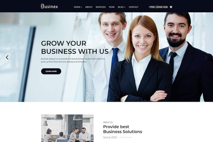 Thumbnail for Businex - React Corporate Business Template