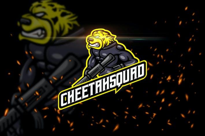 Cheetah Squad - Animal eSport Logo Template