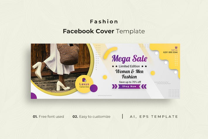 Thumbnail for Fashion r2 Facebook Cover Template