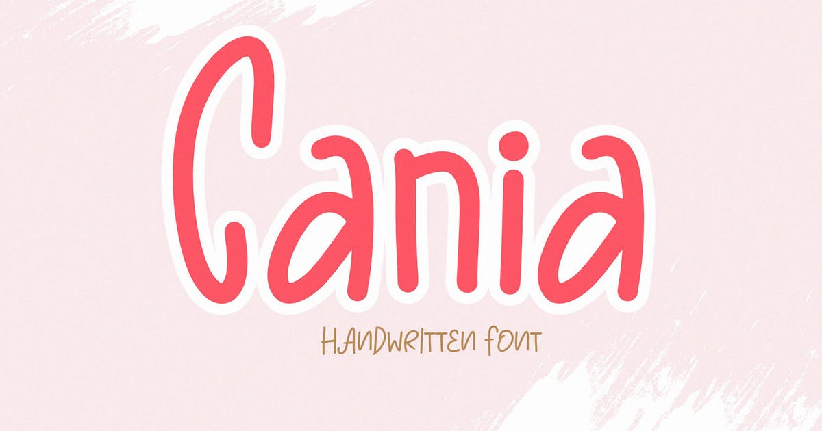 Download Cania - a Cute Handwritten Font by axelartstudio