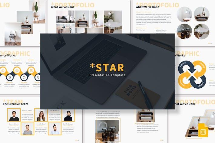 Thumbnail for Star - Google Slides Template
