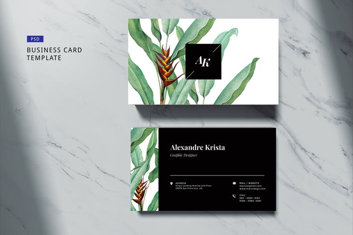 Thumbnail for Elegant Business Card #04