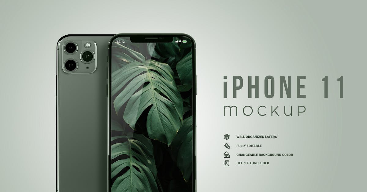 Download iPhone 11 Pro Mockup by GraphicMonday