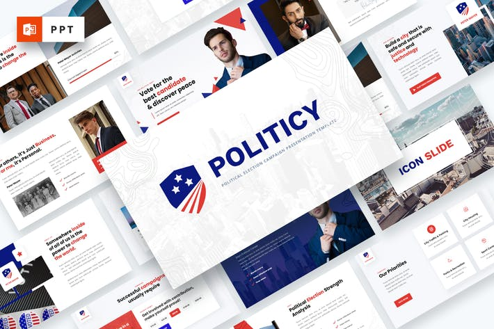 Thumbnail for Politicy - Political Election Powerpoint Template