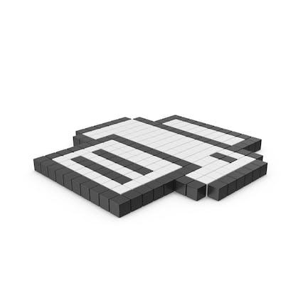 Icono pixelado de la impresora