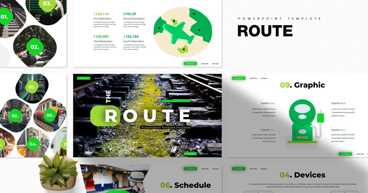 Download Route | Powerpoint Template by Vunira