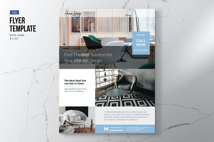 Thumbnail for Property, Interior, Furniture Flyer Template