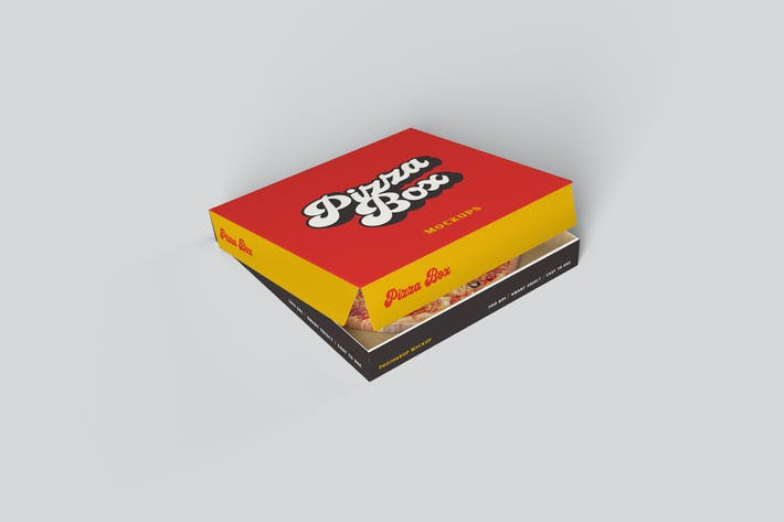 Thumbnail for Pizza Box PSD Mockup
