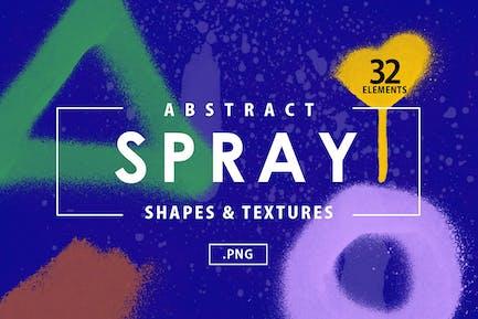 32 abstrakte Sprühformen
