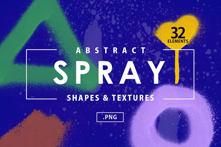 32 Abstract Spray Shapes