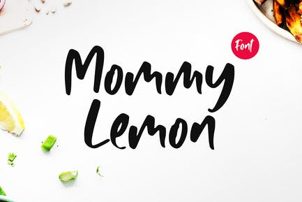 Mommy Lemon - Fun Typeface