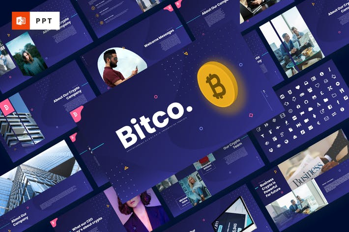Thumbnail for Bitco - Cryptocurrency Powerpoint Template
