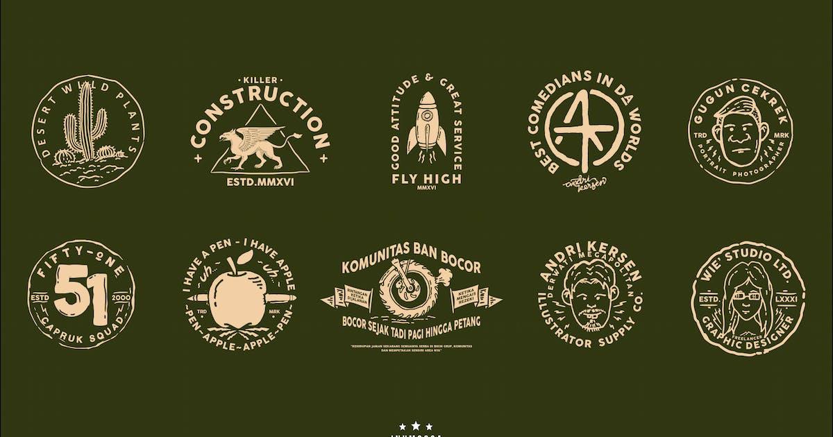 Download Monoline Vintage Badges by inumocca