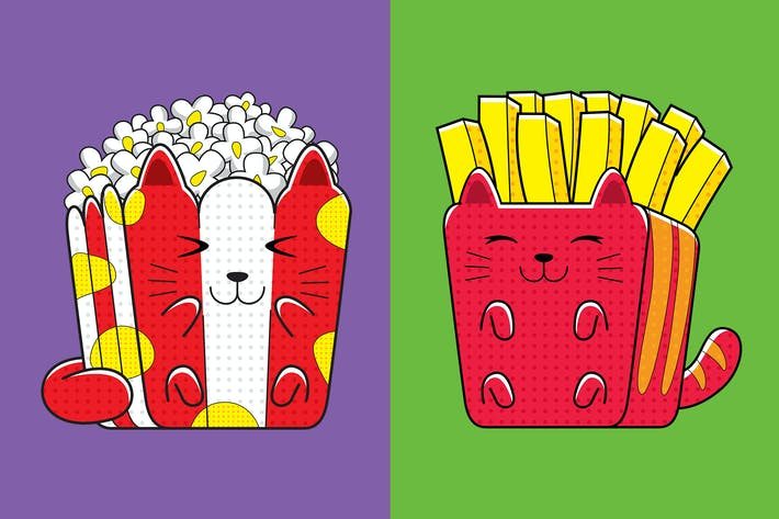 Thumbnail for Cats Fast Food (French Fries & Popcorn)