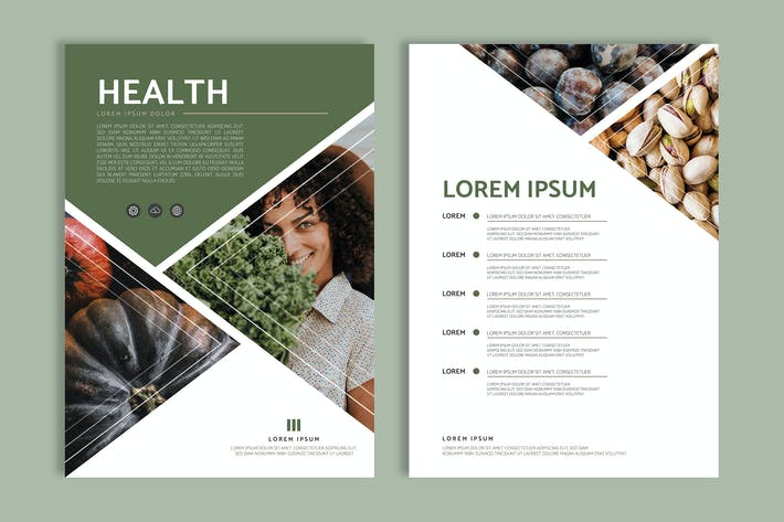 Thumbnail for Healthy foods poster design vector set