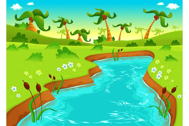 Jungle with Pond