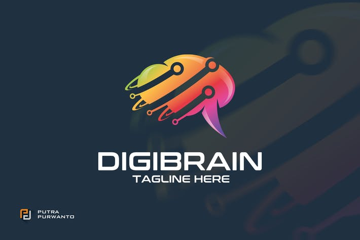 Thumbnail for Digibrain - Logo Template