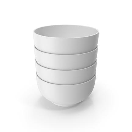 Stapel von Keramikschale