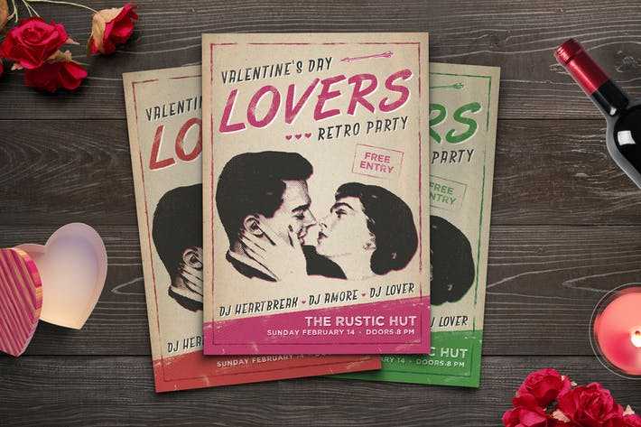Thumbnail for Retro Lovers Party Flyer