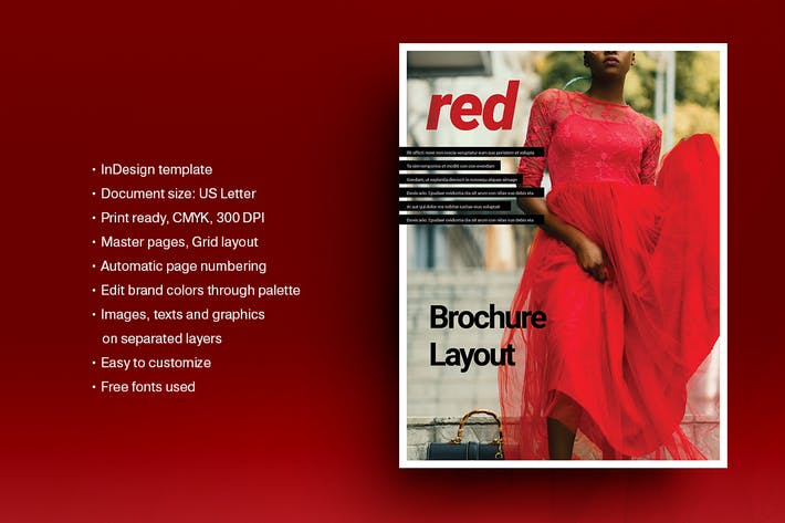 Thumbnail for Red Brochure Template